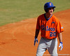 Florida junior Mike Moody talks to his base coach during the University of Florida Orange and Blue scrimmage game in Gainesville, Fla on November 8, 2008. (Casey Brooke Lawson / Gator Country)