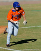 Freshman Daniel Pigott runs toward first base during the University of Florida Orange and Blue scrimmage game in Gainesville, Fla on November 8, 2008. (Casey Brooke Lawson / Gator Country)