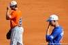 Freshman Preston Tucker stands in the infield during the University of Florida Orange and Blue scrimmage game in Gainesville, Fla on November 8, 2008. (Casey Brooke Lawson / Gator Country)