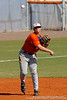 Sophomore Josh Adams throws the ball in from third base during the University of Florida Orange and Blue scrimmage game in Gainesville, Fla on November 8, 2008. (Casey Brooke Lawson / Gator Country)
