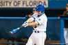 Preston Tucker hits his 2nd home run in a row in the bottom of the sixth inning during the University of Florida 16-3 win against the University of Central Florida on 4/8/09         Photo by: Tim Darby