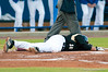Kyle Mills still on the ground after being hit by a pitch during the University of Florida 16-3 win against the University of Central Florida on 4/8/09         Photo by: Tim Darby