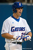 Preston Tucker smiles after hitting his third home run in a row during the University of Florida 16-3 win against the University of Central Florida on 4/8/09         Photo by: Tim Darby