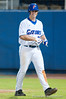 Preston Tucker walks back to the dugout after hitting his second home run in a row in the bottom of the sixth inning during the University of Florida 16-3 win against the University of Central Florida on 4/8/09         Photo by: Tim Darby