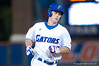 Preston Tucker rounds third after hitting his 2nd home run in a row in the bottom of the sixth inning during the University of Florida 16-3 win against the University of Central Florida on 4/8/09         Photo by: Tim Darby