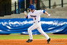 Brandon McArthur heads to second during the bottom of the sixth inning during the University of Florida 16-3 win against the University of Central Florida on 4/8/09         Photo by: Tim Darby