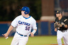 Teddy Foster runs to third base in the bottom of the sixth inning during the University of Florida 16-3 win against the University of Central Florida on 4/8/09         Photo by: Tim Darby