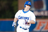 Preston Tucker rounds third after hitting his first grand slam of the night during the University of Florida 16-3 win against the University of Central Florida on 4/8/09         Photo by: Tim Darby