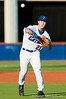 Justin Poovey throws to first during the University of Florida 16-3 win against the University of Central Florida on 4/8/09         Photo by: Tim Darby