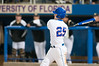 Preston Tucker hits his first grand slam of the night in the bottom of the fifth inning during the University of Florida 16-3 win against the University of Central Florida on 4/8/09         Photo by: Tim Darby