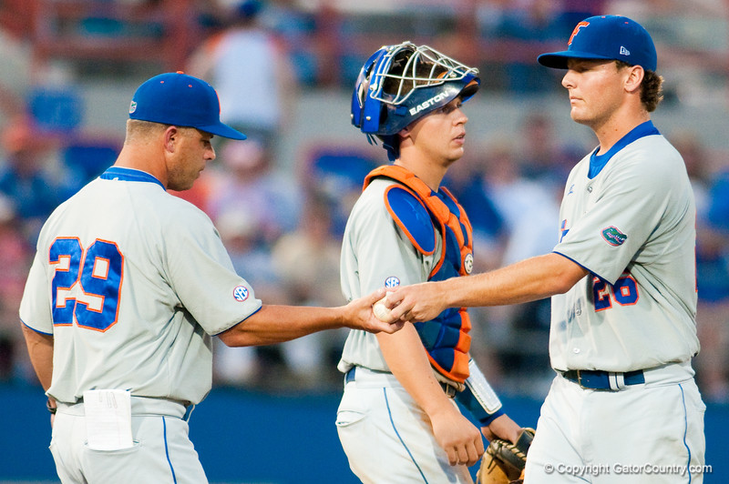 Photos taken during game 2 of the NCAA Super Regional between the University of Florida and the University of Southern Mississippi on June 7, 2009.  Photo by Tim Darby