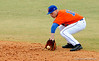 """(Casey Brooke Lawson / Gator Country) Jerico Weitzel fields the ball during the University of Florida """"Meet the Team"""" event for UF baseball on Saturday, February 14, 2009."""