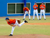 "(Casey Brooke Lawson / Gator Country) Patrick Keating pitches during the University of Florida ""Meet the Team"" event for UF baseball on Saturday, February 14, 2009."