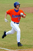 "(Casey Brooke Lawson / Gator Country) Josh Adams runs toward first base during the University of Florida ""Meet the Team"" event for UF baseball on Saturday, February 14, 2009."