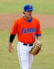 "(Casey Brooke Lawson / Gator Country) Brandon McArthur walks off the field during the University of Florida ""Meet the Team"" event for UF baseball on Saturday, February 14, 2009."