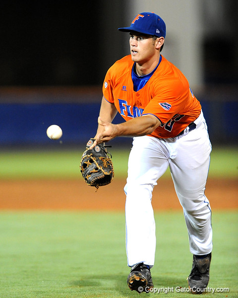 Freshman Preston Tucker throws the ball during the University of Florida baseball team's defeat of the University of Kentucky (10-3) on Thursday, May 14, 2009 in Gainesville, Fla. / Gator Country photo by Casey Brooke Lawson