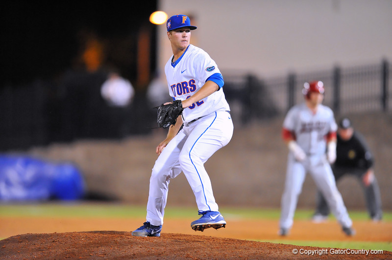 Gators take their SEC opening game with a win over Arkansas 2-1 and steller pitching from freshman Logan Shore.