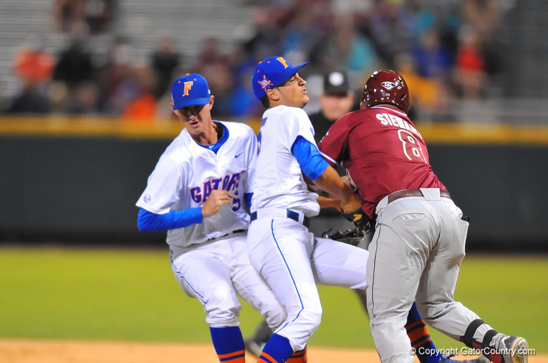 After a brawl and steller Florida pitching, the Gators hold off FSU in Jacksonville to win 4-1.