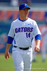 Florida Gators pitcher Bobby Poyner during pre-game drills.  Florida Gators vs Miami Hurricanes.  February 22nd, 2015. Gator Country photo by David Bowie.