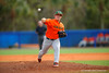 Miami Hurricanes pitcher Enrique Sosa delivers a pitch during the fifth inning.  Florida Gators vs Miami Hurricanes.  February 22nd, 2015. Gator Country photo by David Bowie.