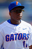 Florida Gators infielder Josh Tobias during pre-game.  Florida Gators vs Miami Hurricanes.  February 22nd, 2015. Gator Country photo by David Bowie.