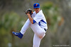 Florida Gators pitcher Dane Dunning delivers a pitch during the fifth inning.  Florida Gators vs Miami Hurricanes.  February 22nd, 2015. Gator Country photo by David Bowie.
