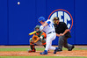 Florida Gators outfielder Harrison Bader swings at a pitch in the eighth inning.  Florida Gators vs Miami Hurricanes.  February 22nd, 2015. Gator Country photo by David Bowie.