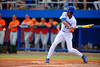 Florida Gators outfielder Buddy Reed swings at a pitch during the first inning.  Florida Gators vs Miami Hurricanes.  February 22nd, 2015. Gator Country photo by David Bowie.