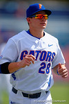 Florida Gators catcher Mark Kolozsvary during pre-game.  Florida Gators vs Miami Hurricanes.  February 22nd, 2015. Gator Country photo by David Bowie.
