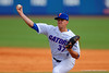 Florida Gators pitcher Shaun Anderson pitching during the sixth inning.  Florida Gators vs Miami Hurricanes.  February 22nd, 2015. Gator Country photo by David Bowie.