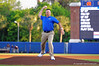 Florida Gators softball head coach Tim Walton throws out the first pitch.  Florida Gators Baseball vs Florida State Seminoles.  March 17th, 2016. Gator Country photo by David Bowie.