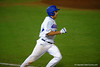 Florida Gators infielder John Sternagel sprinting down the first base line in the fifth inning.  Florida Gators Baseball vs Florida State Seminoles.  March 17th, 2016. Gator Country photo by David Bowie.