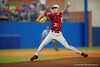 FSU pitcher Alec Byrd pitching during the first inning.  Florida Gators Baseball vs Florida State Seminoles.  March 17th, 2016. Gator Country photo by David Bowie.
