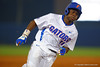 Florida Gators infielder Josh Tobias sprints around third base and toward home in the third.  Florida Gators Baseball vs Florida State Seminoles.  March 17th, 2016. Gator Country photo by David Bowie.