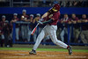 A Semonole batter swings at a pitch.  Florida Gators Baseball vs Florida State Seminoles.  March 17th, 2016. Gator Country photo by David Bowie.