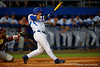 Florida Gators right fielder Jeremy Vasquez swings and drives the ball for a double in the first.  Florida Gators Baseball vs Florida State Seminoles.  March 17th, 2016. Gator Country photo by David Bowie.