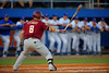 FSU outfielder DJ Stewart steps to the plate in the first inning.  Florida Gators Baseball vs Florida State Seminoles.  March 17th, 2016. Gator Country photo by David Bowie.