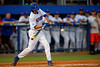 Florida Gators infielder Dalton Guthrie swings at a pitch during the first inning.  Florida Gators Baseball vs Florida State Seminoles.  March 17th, 2016. Gator Country photo by David Bowie.
