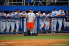 The Gators look on from the dugout during the first inning.  Florida Gators Baseball vs Florida State Seminoles.  March 17th, 2016. Gator Country photo by David Bowie.
