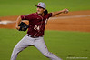 Semonoles LHP Dylan Silva throws to the plate in the fifth inning.  Florida Gators Baseball vs Florida State Seminoles.  March 17th, 2016. Gator Country photo by David Bowie.