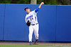 Florida Gators right fielder Jeremy Vasquez throws the ball in from the track after an FSU single.  Florida Gators Baseball vs Florida State Seminoles.  March 17th, 2016. Gator Country photo by David Bowie.