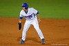 Florida Gators 1B/OF Jeremy Vasquez leads off from second base after doubling in the fifth inning.  Florida Gators Baseball vs Florida State Seminoles.  March 17th, 2016. Gator Country photo by David Bowie.