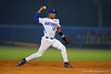 Florida Gators shortstop Richie Martin throws to first for an out in the second inning.  Florida Gators Baseball vs Florida State Seminoles.  March 17th, 2016. Gator Country photo by David Bowie.