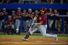 Seminoles outfielder DJ Stewart swings at a pitch in the sixth.  Florida Gators Baseball vs Florida State Seminoles.  March 17th, 2016. Gator Country photo by David Bowie.