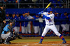 Florida Gators catcher JJ Schwarz steps into the batters box during the first inning.  Florida Gators vs Rhode Island Rays.  February 13th, 2015. Gator Country photo by David Bowie.