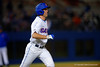 Florida Gators outfielder Ryan Larson draws a walk at the plate during the second inning.  Florida Gators vs Rhode Island Rays.  February 13th, 2015. Gator Country photo by David Bowie.