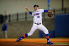 Florida Gators pitcher Mike Vinson delivers a pitch.  Florida Gators vs Rhode Island Rays.  February 13th, 2015. Gator Country photo by David Bowie.