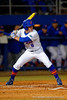 Florida Gators outfielder Harrison Bader at the plate during the first inning.  Florida Gators vs Rhode Island Rays.  February 13th, 2015. Gator Country photo by David Bowie.