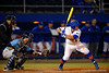 Florida Gators catcher Mike Rivera at the plate.  Florida Gators vs Rhode Island Rays.  February 13th, 2015. Gator Country photo by David Bowie.