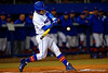 Florida Gators catcher JJ Schwarz swings at a pitch during the first inning.  Florida Gators vs Rhode Island Rays.  February 13th, 2015. Gator Country photo by David Bowie.